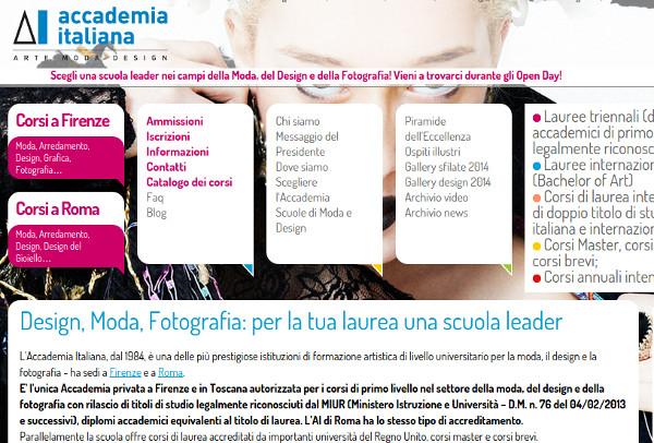 Accademia italiana di arte moda e design tra firenze e for Scuola di moda pescara